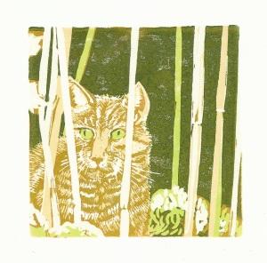 Cat#1 Lino cut